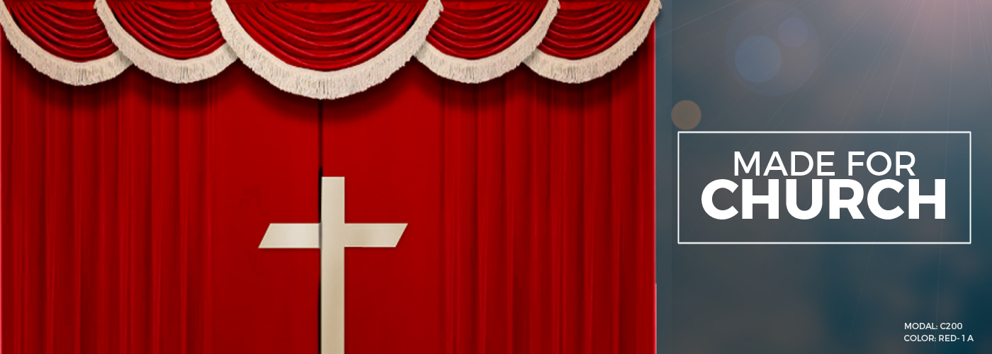 Church Altar Curtains With Cross Stage Backdrop Amp Church
