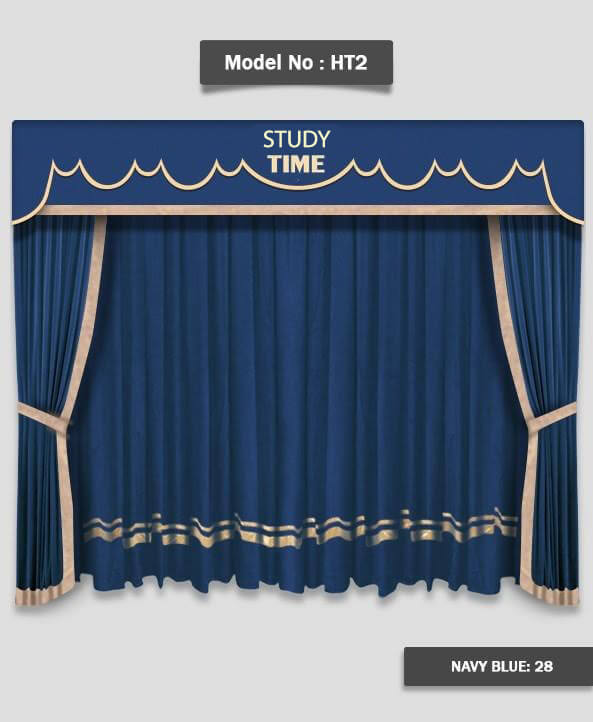 School Stage Curtain Ht2