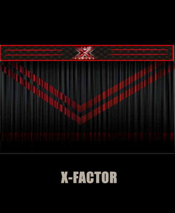 X Factor Red And Black Stage Curtain