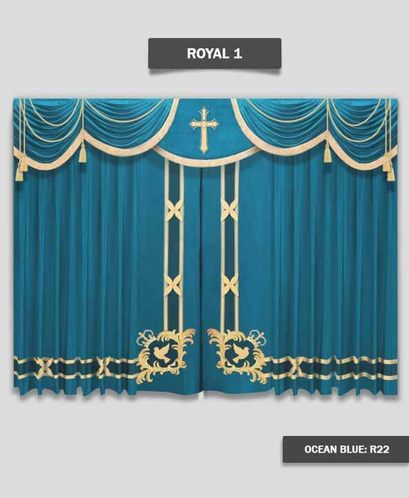 Nice Royal Stage Curtains For Church