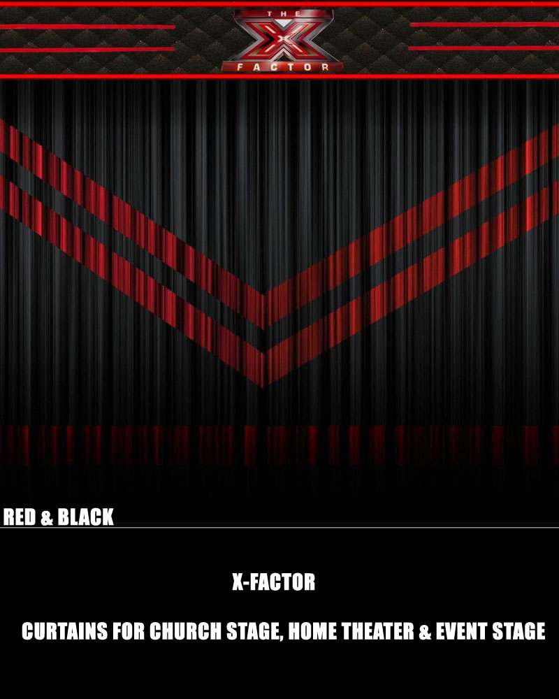 Red stage curtains - X Factor Red And Black Stage Curtain