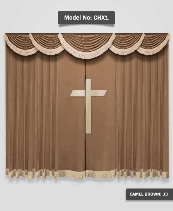 Superb Church Curtains With Cross