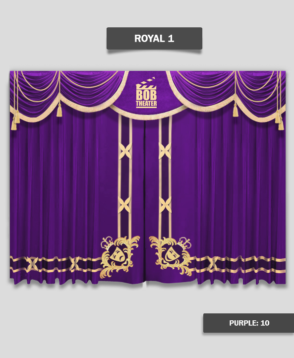 Royal Stage Curtains For Church