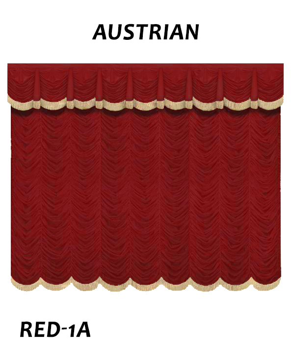 Austrian Curtain With Gold Fringe