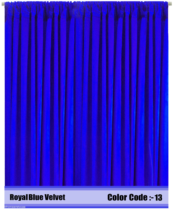 Velvet Curtains Panel